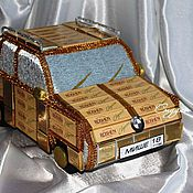 Подарки к праздникам ручной работы. Ярмарка Мастеров - ручная работа Машина  из конфет. Handmade.