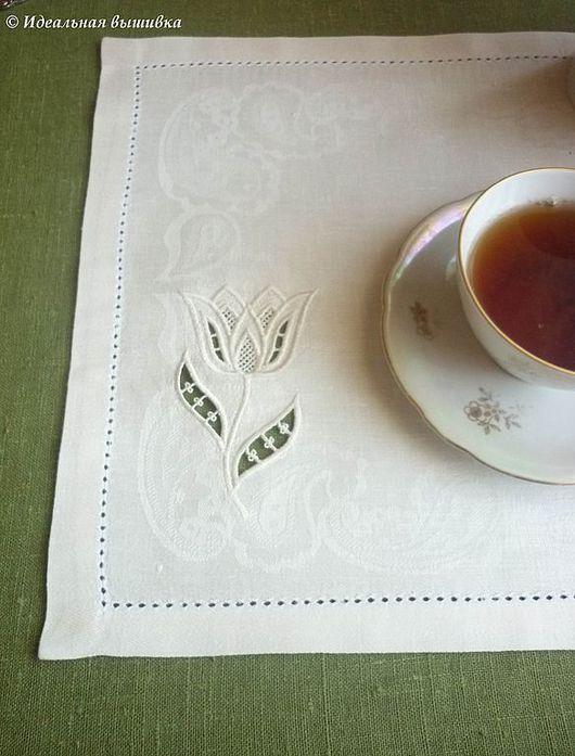"""Текстиль, ковры ручной работы. Ярмарка Мастеров - ручная работа. Купить Салфетка под тарелку """"Ажурный тюльпан"""". Handmade."""