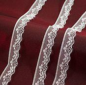 Материалы для творчества handmade. Livemaster - original item Lace 18 mm, colour white. Handmade.