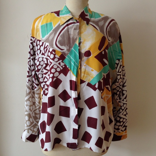 Одежда. Ярмарка Мастеров - ручная работа. Купить Винтажная рубашка  Louis Feraud 1980-х годов. Handmade. Винтажная одежда