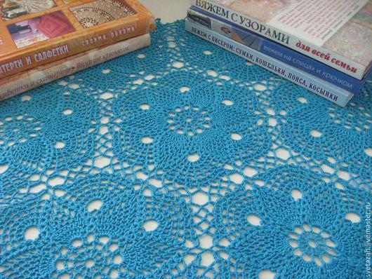 """Текстиль, ковры ручной работы. Ярмарка Мастеров - ручная работа. Купить Салфетка """"Прелесть"""". Handmade. Синий, мотивы крючком, цветная"""