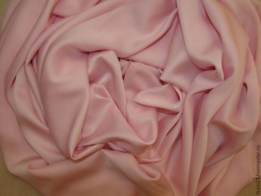 Шитье ручной работы. Ярмарка Мастеров - ручная работа. Купить Атлас шелк стрейч арт.14 АТШ-1 (Корея) светло-розовый. Handmade.
