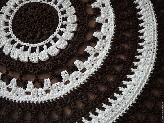 """Текстиль, ковры ручной работы. Ярмарка Мастеров - ручная работа. Купить """"Зефир в шоколаде"""" - Вязаный Коврик круглый. Handmade. Мягкость"""