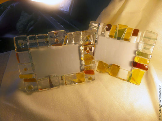Фоторамки ручной работы. Ярмарка Мастеров - ручная работа. Купить Уникальная фоторамка стекло, фьюзинг. Handmade. Рамка для фотографии
