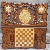 Подарки к праздникам handmade. Livemaster - original item Backgammon carved handmade