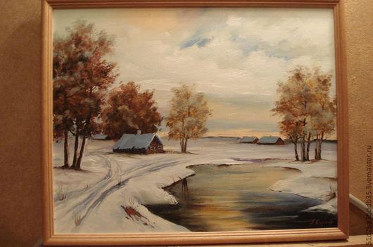 Пейзаж ручной работы. Ярмарка Мастеров - ручная работа. Купить зима. Handmade. Картина, картина в подарок, картина для интерьера