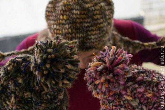 Шапки ручной работы. Ярмарка Мастеров - ручная работа. Купить шапка вязанная женская, итальянская пряжа. Handmade. Бежевый