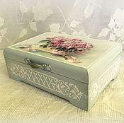 Для дома и интерьера ручной работы. Ярмарка Мастеров - ручная работа шкатулка Розы в вазе. Handmade.