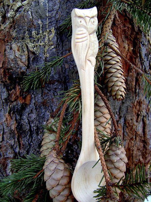 """Ложки ручной работы. Ярмарка Мастеров - ручная работа. Купить ложка кедровая """"СОВА""""(2). Handmade. Посуда из дерева, деревянная ложка"""