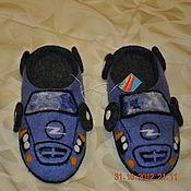 """Обувь ручной работы. Ярмарка Мастеров - ручная работа Валяные тапочки """"Автотапки-2"""". Handmade."""