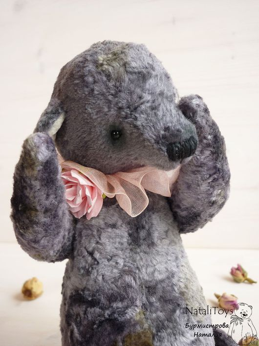 Мишки Тедди ручной работы. Ярмарка Мастеров - ручная работа. Купить Мишка тедди Грей. Handmade. Темно-серый, пепельный
