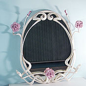 Для дома и интерьера handmade. Livemaster - original item Mirror in wrought iron frame`angélique. Handmade.