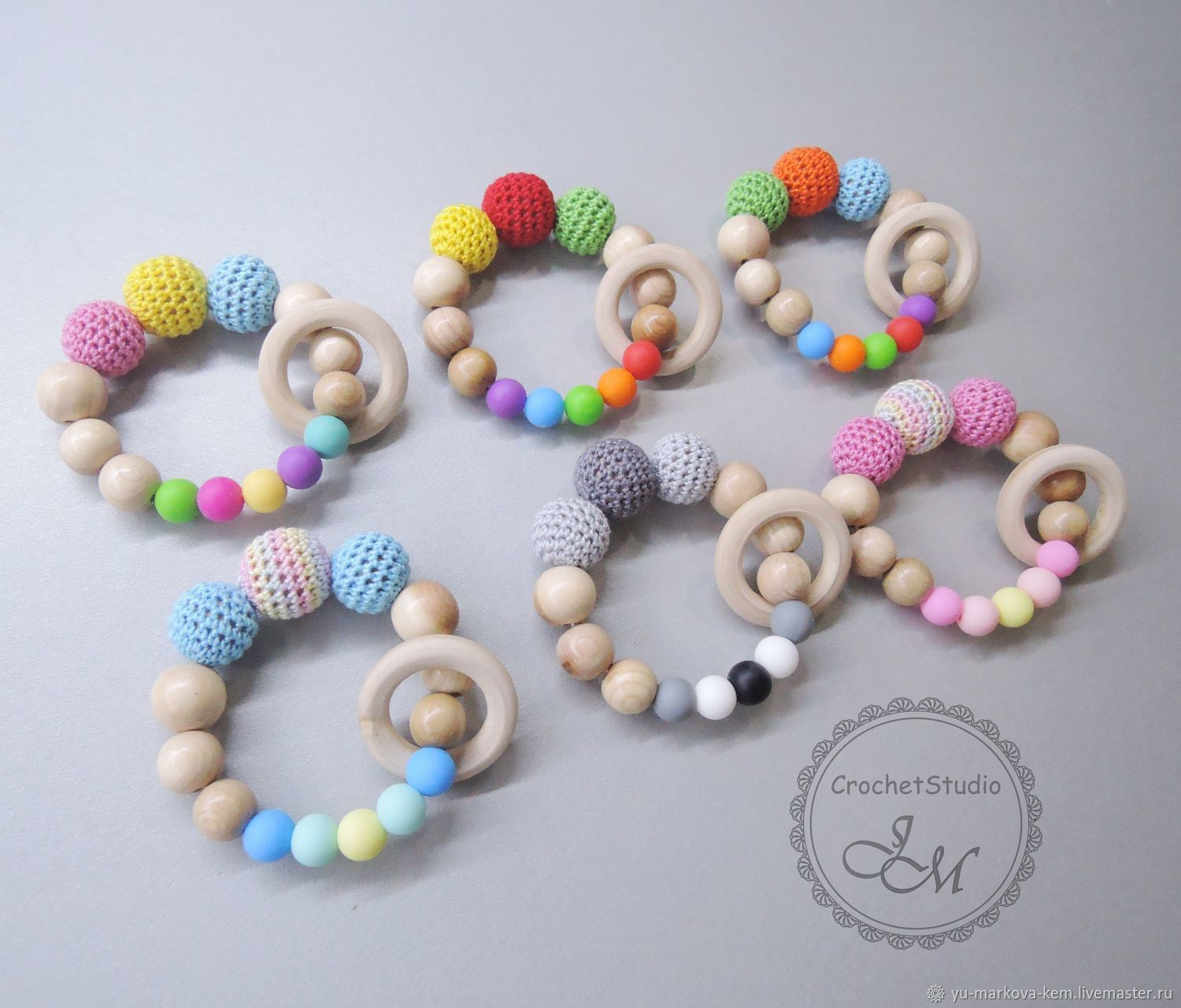 gryzunki: Juniper teether with a ring and silicone beads, Teething toys, Kemerovo,  Фото №1