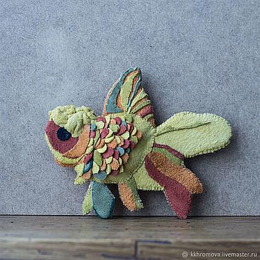 Украшения ручной работы. Ярмарка Мастеров - ручная работа Б130 Рыба. Handmade.