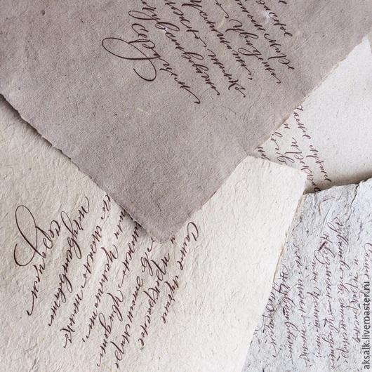 """Письменные приборы ручной работы. Ярмарка Мастеров - ручная работа. Купить """"Calligraphy"""" набор бумаги для каллиграфии. Handmade. Разноцветный"""