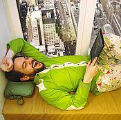 Одежда ручной работы. Ярмарка Мастеров - ручная работа Мужская рубашка зеленая S, M. Handmade.
