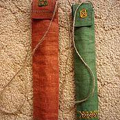 Музыкальные инструменты ручной работы. Ярмарка Мастеров - ручная работа Чехол для свирели, льняной с вышивкой. Handmade.