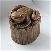 Для дома и интерьера ручной работы. Ярмарка Мастеров - ручная работа Шкатулка-лягушка. Ручная работа. Дерево.. Handmade.