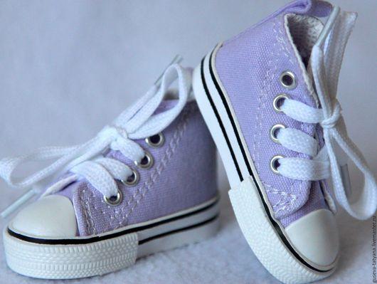 Обувь для игрушек. Обувь для кукол. Обувь для куклы.Кеды для куклы 7,5 см