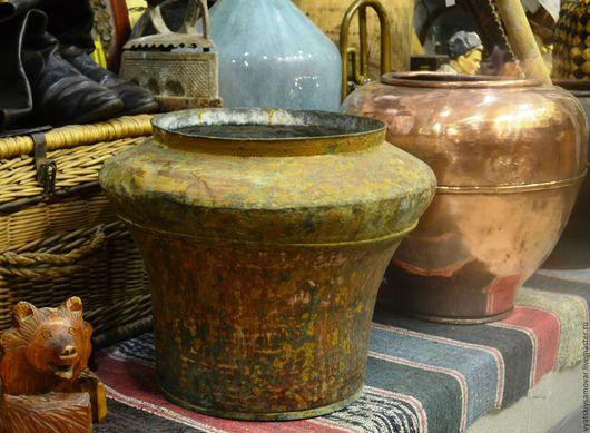 Винтажные предметы интерьера. Ярмарка Мастеров - ручная работа. Купить Старинная медная корчага (сыпник, водник) на 20 литров в оригинальном. Handmade.