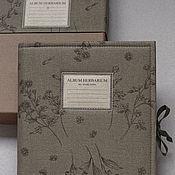 Канцелярские товары handmade. Livemaster - original item Album for a herbarium Silhouettes (A4, 20 plants, Kraft). Handmade.