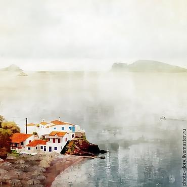 """Картины и панно ручной работы. Ярмарка Мастеров - ручная работа Фотокартина """"Каждый из нас — остров"""" сделана в Греции. Handmade."""