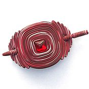 Украшения handmade. Livemaster - original item Barrette Bordeaux (red, brooch, hair pin shawl). Handmade.