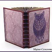 Канцелярские товары ручной работы. Ярмарка Мастеров - ручная работа Блокнот фиолетовая сова. Handmade.