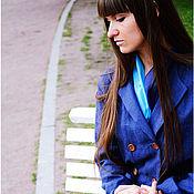Одежда ручной работы. Ярмарка Мастеров - ручная работа Синий пыльник для путешествий. Handmade.