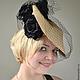 """Шляпы ручной работы. Ярмарка Мастеров - ручная работа. Купить Шляпа соломенная """"Черные розы"""". Handmade. Бежевый, черный и бежевый"""