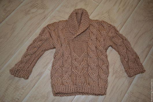 Одежда для мальчиков, ручной работы. Ярмарка Мастеров - ручная работа. Купить Вязаная кофта для мальчика и девочки. Handmade. Коричневый