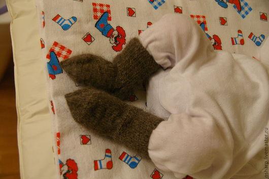 """Носки, гольфы, гетры ручной работы. Ярмарка Мастеров - ручная работа. Купить Носочки """"Козий пух"""". Handmade. Носки, для детей"""