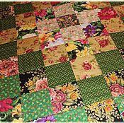"""Для дома и интерьера ручной работы. Ярмарка Мастеров - ручная работа """"Цветы и трава"""" № 509 Лоскутное одеяло / покрывало пэчворк. Handmade."""