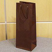 Пакеты ручной работы. Ярмарка Мастеров - ручная работа 14х37х10 - пакет бумажный коричневый с ручками веревочными. Handmade.