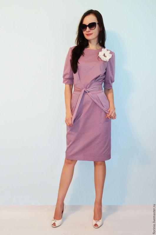 Платья ручной работы. Ярмарка Мастеров - ручная работа. Купить Платье Andrea (spring). Handmade. Кремовый, розовый цвет