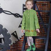 Работы для детей, ручной работы. Ярмарка Мастеров - ручная работа Пальто валяное Тюльпаны в Апреле. Handmade.