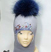 Работы для детей, ручной работы. Ярмарка Мастеров - ручная работа Зимняя шапка-шлем для девочки. Handmade.