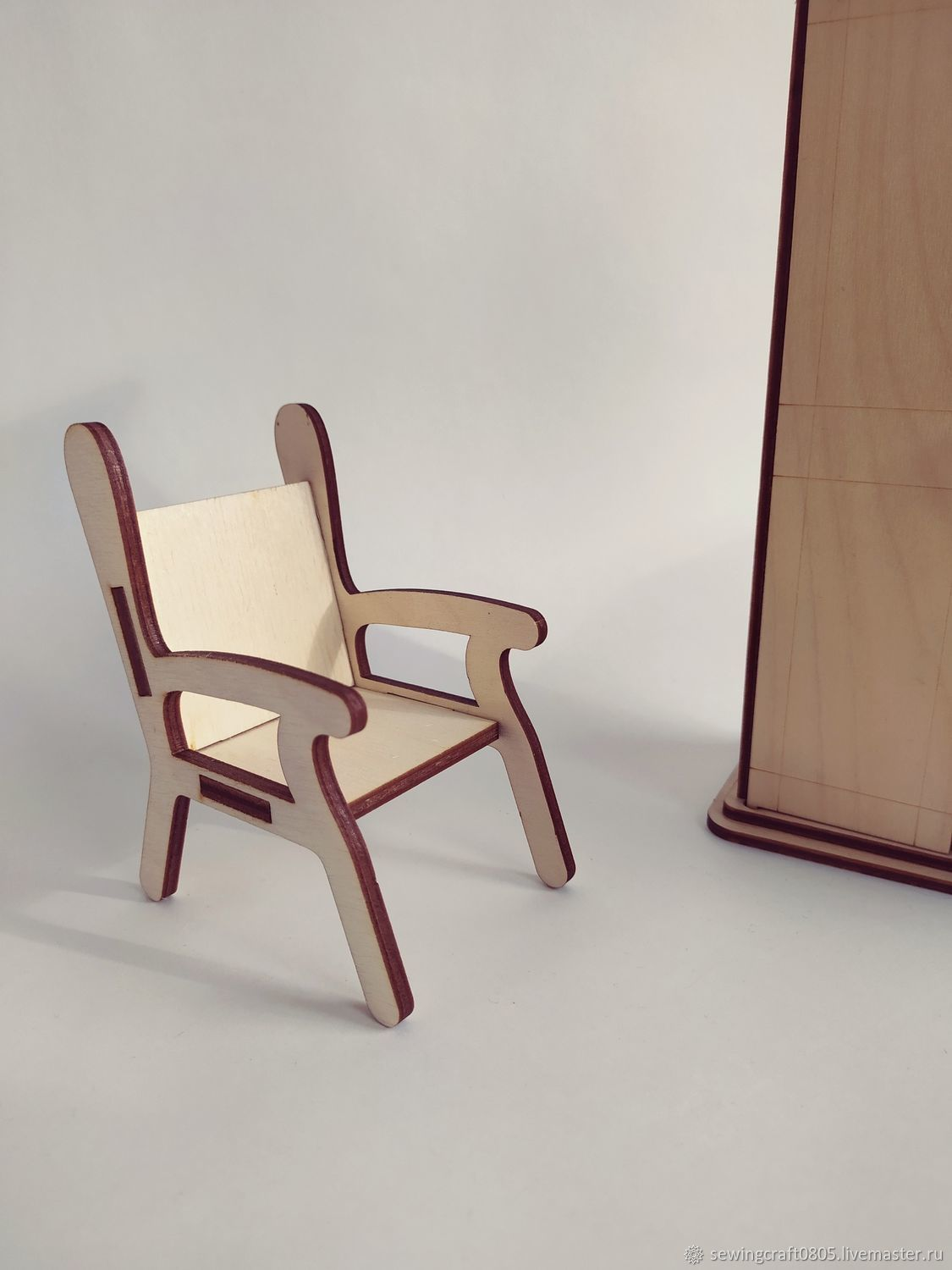 Chair for dolls. Blank from plywood 3 mm, Doll furniture, St. Petersburg,  Фото №1