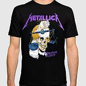 "Одежда handmade. Livemaster - original item Футболка хлопковая ""Metallica"". Handmade."