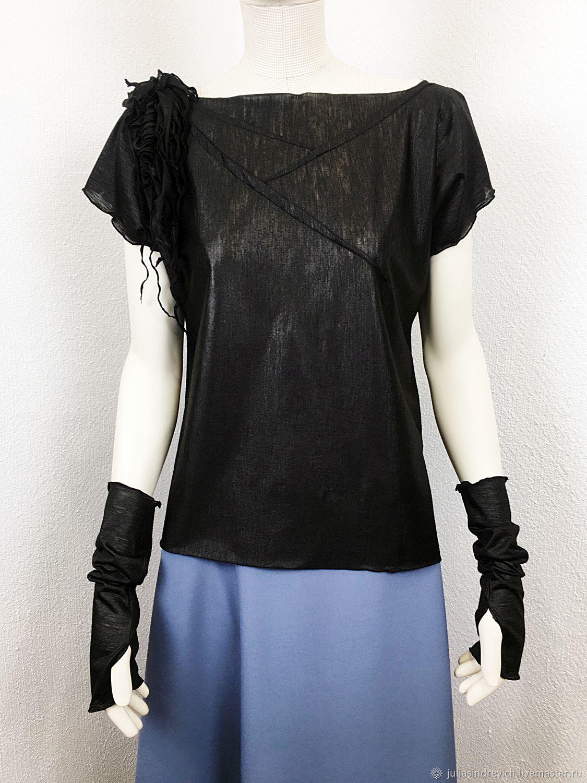 F_chern_sherst t-shirt woolen t-Shirt, color black, T-shirts, Moscow,  Фото №1