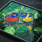 """Картины и панно ручной работы. Ярмарка Мастеров - ручная работа панно """"Попугаи"""". Handmade."""