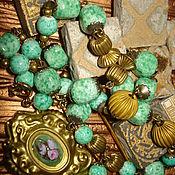 """Украшения ручной работы. Ярмарка Мастеров - ручная работа Бусы-колье в винтажном стиле """"Венецианский цветок"""". Handmade."""