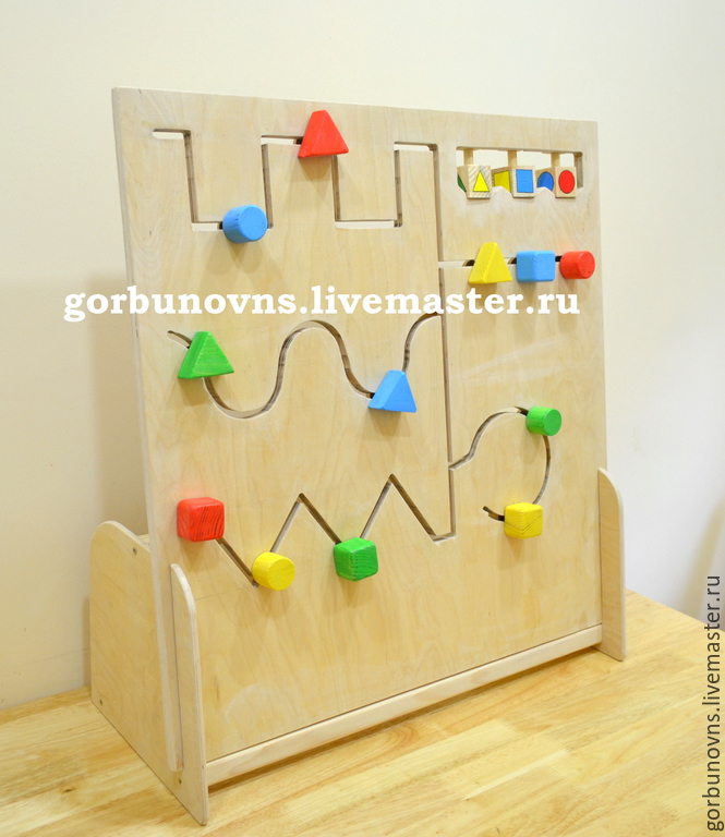 Educational Module Geometric Maze Movement along slot, Doll food, Simferopol,  Фото №1