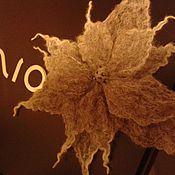 Украшения ручной работы. Ярмарка Мастеров - ручная работа брошь фантазийный цветок. Handmade.