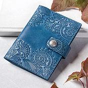 Канцелярские товары handmade. Livemaster - original item Blue Women`s Passport Holder with Snap Closure. Handmade.