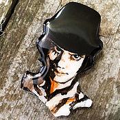 Украшения handmade. Livemaster - original item Black and white brooch portrait