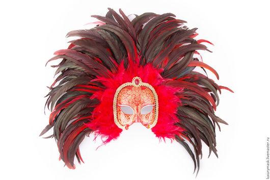 """Карнавальные костюмы ручной работы. Ярмарка Мастеров - ручная работа. Купить Венецианская маска """" Red Queen"""". Handmade. маска"""