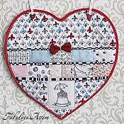 """Для дома и интерьера ручной работы. Ярмарка Мастеров - ручная работа Карман для мелочей """"сердце"""". Handmade."""