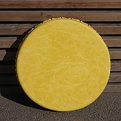 Музыкальные инструменты handmade. Livemaster - original item Vedic tambourine yellow 35 cm. Handmade.