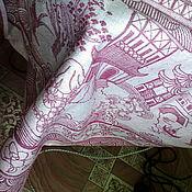 """Для дома и интерьера ручной работы. Ярмарка Мастеров - ручная работа льняная скатерть круглая """"Япония"""". Handmade."""